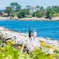 Family at Frost Point.- Odiorne Point State Park + Seacoast Science Center