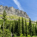 Rising Bull Ridge.- Upper Two Medicine Lake Campground