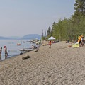 The beach is huge!- Jackson Lake Swim Beach