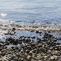 Bring your water-capable footwear because the stones aren't very forgiving on bare feet.- Jackson Lake Swim Beach