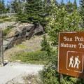 Sun Point Trail entrance.- Sun Point