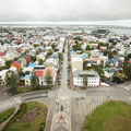 View to the northwest.- Hallgrímskirkja Church