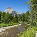 Swiftcurrent Creek.- Swiftcurrent Lake Loop Hike