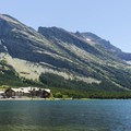 Many Glacier Hotel.- Swiftcurrent Lake Loop Hike
