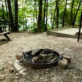 Campsite 21 has an excellent sunrise view and higher elevation than the others.- Devils Fork State Park Campground