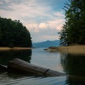The finger of Lake Jocassee is very private.- Bear Cove Trail