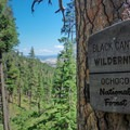 Entering the Black Canyon Wilderness on the Payten Trail.- Ochoco Mountains Loop: Rock Creek to Black Canyon Wilderness