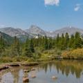 Sawtooth Peak and Buchanan Pass from Coney Flats.- Pawnee and Buchanan Pass Loop