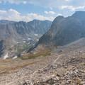 Looking south at Shoshoni Peak and Navajo Peak.- Pawnee and Buchanan Pass Loop