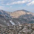 Mount Audubon with Blue Lake beneath.- Pawnee and Buchanan Pass Loop