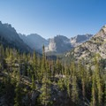 The valley holding Crater Lake.- Pawnee and Buchanan Pass Loop