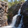 One of the many falls of Cascade Creek.- Pawnee and Buchanan Pass Loop