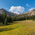 Camping at the heart of Fox Park.- Pawnee and Buchanan Pass Loop