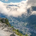 Looking down to Chamonix from Grand Balcon Nord.- Grand Balcon Nord