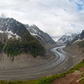 Mer de Glace from the Montenvers train station.- Grand Balcon Nord