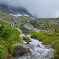 A waterfall near Plan de l'Aiguille.- Grand Balcon Nord