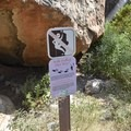Pay attention the posted areas where climbing is prohibited.- Hueco Tanks State Park and Historic Site