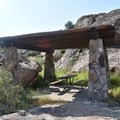 Covered picnic areas.- Hueco Tanks State Park and Historic Site