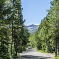 Many Glacier Campground.- Many Glacier Campground