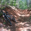 A few spots of rocks and erosion on the Bull Mountain downhill section.- Jake and Bull Mountain Trail Network