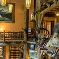 Lobby of Lake McDonald Lodge.- Lake McDonald Lodge