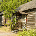 Cabins at Lake McDonald.- Lake McDonald Lodge