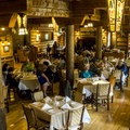 Russel's Fireside Dining Room.- Lake McDonald Lodge