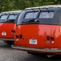 Classic restored park tour cars.- Lake McDonald Lodge