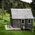 One of the staff cabins at the lodge, the simple life.- LeConte Lodge