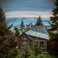 Sunset from one of the cabins at the lodge.- LeConte Lodge
