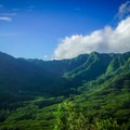 A grassy knoll provides marvelous views of Manoa Valley and the surrounding mountains.- Pu'u Pia