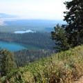 Great views of Bradley and Taggart lakes below.- Delta Lake