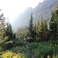 Make sure you turn around on your early morning ascent to catch the sun rising into Paintbrush Canyon.- Paintbrush Canyon to Cascade Canyon Loop