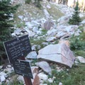 The Holly Lake junction in Upper Paintbrush Canyon.- Paintbrush Canyon to Cascade Canyon Loop