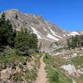 A great view looking uphill in the Upper Paintbrush Canyon area.- Paintbrush Canyon to Cascade Canyon Loop