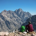 Don't forget your summit snacks en route to Paintbrush Divide. You're not going to want to leave the views up top.- Paintbrush Canyon to Cascade Canyon Loop