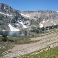 It takes most of the summer for Lake Solitude to fully thaw out.- Paintbrush Canyon to Cascade Canyon Loop