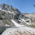 Grab a prime spot in the shade on the giant smooth rock on Lake Solitude and enjoy your lunch before completing the loop.- Paintbrush Canyon to Cascade Canyon Loop