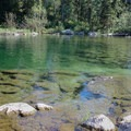 As soon as you hike around Jenny Lake, you'll run into a fantastic swimming hole just a half mile from the Leigh Lake parking lot. The temperature is much more reasonable than that of Lake Solitude.- Paintbrush Canyon to Cascade Canyon Loop