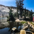 Each of the Sunrise Lakes has easy access to the trail and backcountry campsites.- Sunrise Lakes