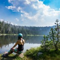 The third Sunrise Lake has multiuse trails leading to nearby campsites. Many people love fishing here.- Sunrise Lakes