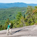Sections of the trail are open slabs of granite.- Welch-Dickey Loop