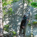 A tighter squeeze between rocks. - Welch-Dickey Loop