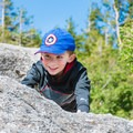 Kids love climbing on the large boulders at Artists Bluff.- Artists Bluff and Bald Mountain