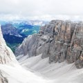 The view from one of the Sella Group trails in the Dolomites.- Alta Via No. 2