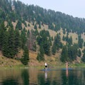 Paddleboarders are more common on Wade Lake.- Cliff and Wade Lakes