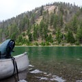 Take a break at the island in Cliff Lake.- Cliff and Wade Lakes