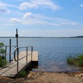 Kayak and canoe launch near the paddle-in sites.- Leesylvania State Park Campground