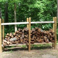 Stacked firewood is provided at all campsites.- Leesylvania State Park Campground