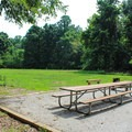 A large field next to the group site is perfect for recreational activities and games.- Leesylvania State Park Campground